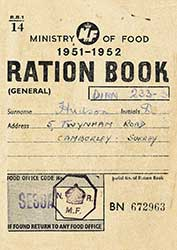1950s Ration Book