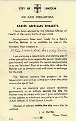 Babies Anti-Gas Helmets leaflet