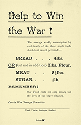 Help to win the War leaflet