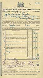 Servant's licence