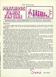 Partridge family fan club