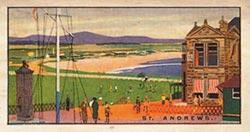 Seaside Cigarette card - St Andrews