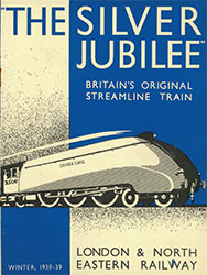 Silver Jubilee steam train leaflet from 1938