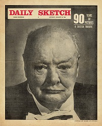 Churchill Daily Sketch newspaper